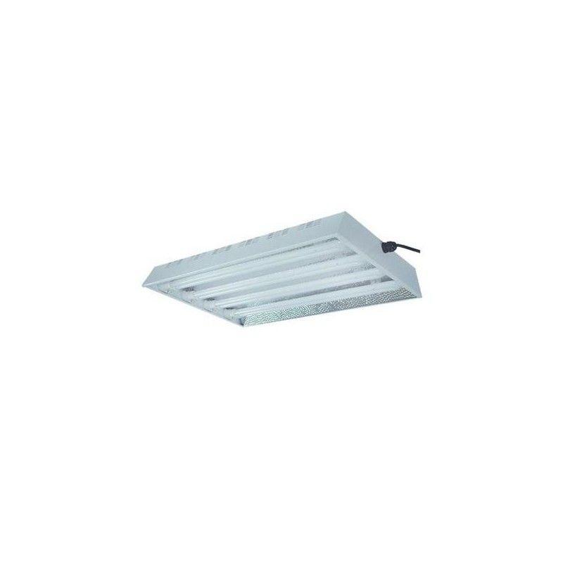 Reflector Propagacion + Fluorescentes 4X55W Aluminio Stuco 57X42X7CM